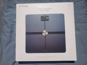 $75 WITHINGS BODY COMPOSITION WIFI SCALE for Sale in Las Vegas, NV