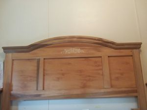 Solid wood bed frame and 2 matching night stands and solid wood tv stand for Sale in Statesboro, GA