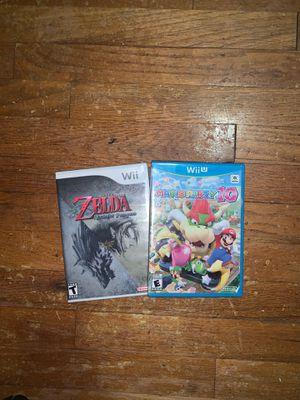 Mario Party 10(Wii U) & The Legend of Zelda Twilight Princess(Wii) for Sale in Lanham, MD