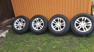 18' rim's and used tires off of 2017 Chevey Tahoe, with rim locks, just put new rims on my tahoe dont need this set anymore for Sale in Robstown, TX