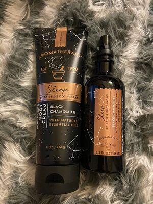 Aromatherapy sleep black chamomile set for Sale in Rancho Cucamonga, CA