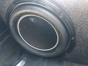 "Jl audio 10"" speaker W6 ! With amp for Sale in Midland, TX"