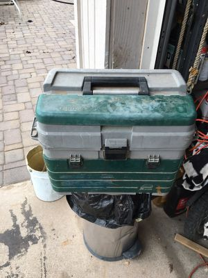 Fishing tackle box with tackle for Sale in Mesa, AZ