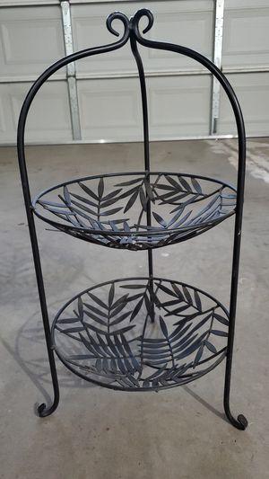 Tier Decorative Fruit Basket Countertop Stand Black for Sale in Selma, CA