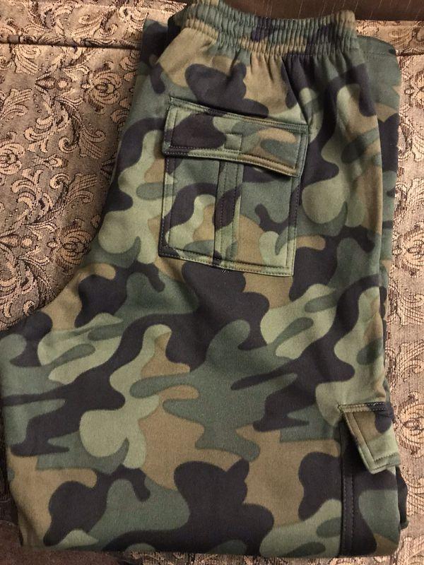 Men's Camouflage Thick Sweats Sizes S-M-L-XL