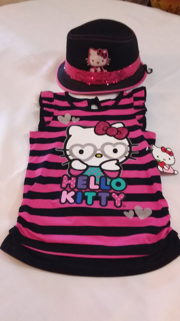 Blouse Girl Come With Hat-Hello Kitty