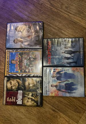 Inception, White House Down, Jumanji, Due Date, The Departed DVD Lot for Sale in Middlesex, NC