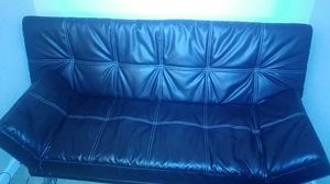 Jet black futon for Sale in Modesto, CA