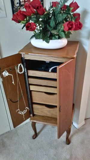 JEWELRY ARMOIRE WITH MIRROR for Sale in McLean, VA