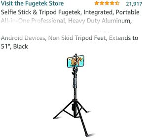 Tripod,54 Inch Extendable Phone Tripod for Cell Phone for Sale in La Habra Heights, CA