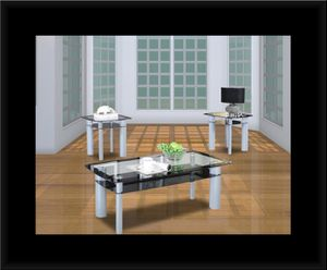 3pc glass coffee table for Sale in Hyattsville, MD
