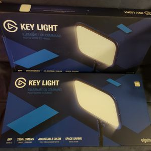 Pair of Elgato Key Light Professional Studio LED Panel with 2800 Lumens for Sale in Fort Worth, TX