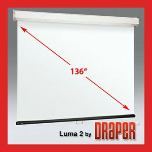 Professional Projector Screen 136in. or 110in. @ 16:9 aspect ratio. DRAPER Luma 2 for Sale in Sunrise, FL
