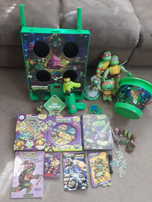 Huge Ninja turtles TMNT toys books puzzles for Sale in Wrightsville, PA