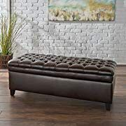 Sheffield Tufted Leather Storage Ottoman Bench for Sale in Charlottesville, VA