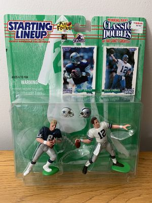 Dallas Cowboys Classic Doubles Action Figures Aikman Stabaugh for Sale in Tampa, FL
