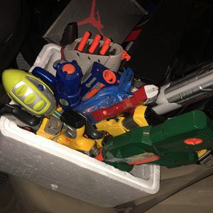 Box of nerf guns with darts for Sale in Miami, FL