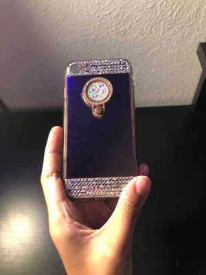 Rose Gold with Small Jewels Phone Case-With Popsocket for Sale in Aurora, CO