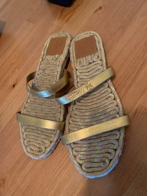 Tory Burch Espadrille Metallic Gold Sandal Size 6 for Sale in Phoenix, AZ