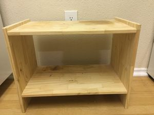 Ikea small 2-level shelf for Sale in Elkridge, MD