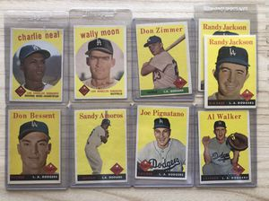 Dodgers Vintage baseball Cards for Sale in Los Angeles, CA
