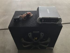 kicker Sub and Amp package for Sale in Payson, AZ