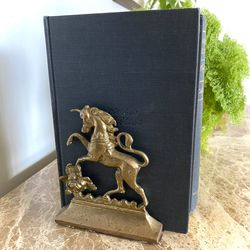 Vintage Solid Brass Unicorn Bookends for Sale in Fuquay-Varina,  NC
