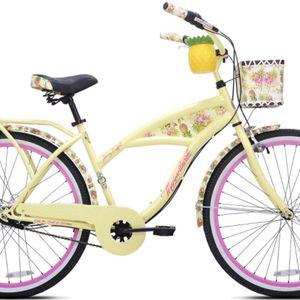 New Kent 26″ Margaritaville Women's 3-Speed Cruiser Bike, Yellow for Sale in Fort Pierce, FL