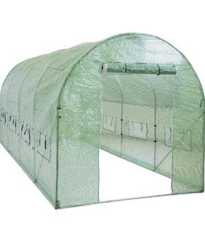 NEW 15x7x7ft Walk-in Greenhouse Tunnel Tent Gardening Accessory w/Roll-Up Windows, Zippered Door grow indoor outdoor for Sale in North Miami Beach, FL