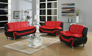 3pc red/blk sofa set(blk/white also available) for Sale in Marietta, GA