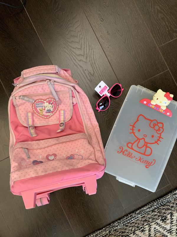 Hello Kitty roller backpack & pink sunglasses