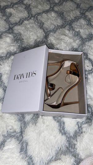 Rose gold heels (David's bridal ) for Sale in Fort Myers, FL