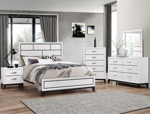 $29 down no credit needed white color queen size 5 piece complete bedroom set for Sale in Beltsville, MD