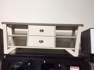 Grace TV Stand for TVs up to 70, Dark Taupe and Ivory for Sale in Santa Fe Springs, CA