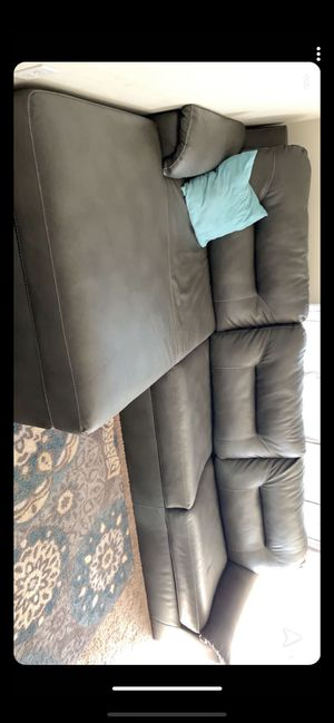 Grey couch and recliner for Sale in Martinsburg, WV
