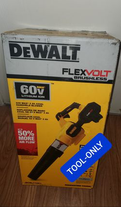 BRAND NEW, DEWALT 125 MPH 600 CFM FLEXVOLT 60V MAX Lithium-Ion Cordless Axial Blower (Tool Only) NUEVA for Sale in Henderson,  NV