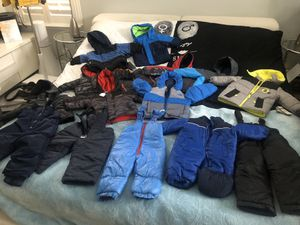 Snow gears jackets pants boots for all family for Sale in Jacksonville, FL