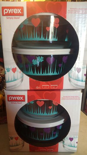 Pyrex 4pcs bowl set each one $8 for Sale in March Air Reserve Base, CA