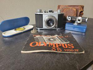Olympus 35 Mod IV Vintage Range Finder Camera - Walz Ranger finder meter - Filte for Sale in Wichita, KS