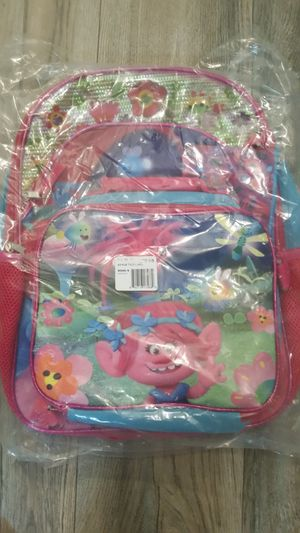 Trolls backpack and lunchbox for Sale in Lakeland, FL