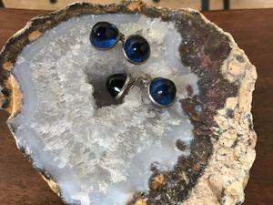 "Blue glass ""Gumdrop"" cufflinks for Sale in Sierra Vista, AZ"