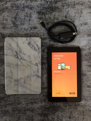 Kindle Fire (5th Gen) + Case & Charger for Sale in Austin, TX