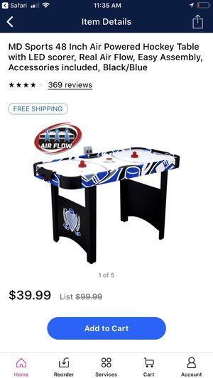Air Powered 48 Inch Hockey Table - Excellent Condition ( Best for Indoor games) for Sale in Bellevue, WA