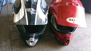 2 used atv helmets for Sale in Schuylkill Haven, PA