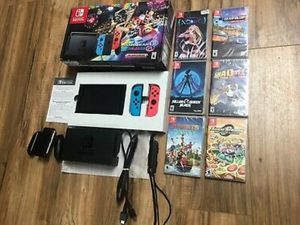 Like new red blue Nintendo switch console with 6 Games (can add 11 total if interested) for Sale in Dallas, TX