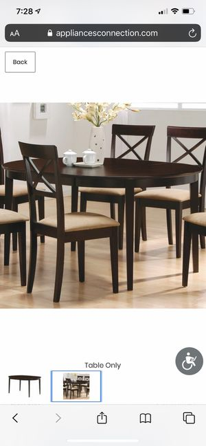 BRAND NEW! STILL IN BOX! Cappuccino Dining Table- Chairs not included for Sale in Las Vegas, NV