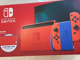 Nintendo Switch Mario Edition w/ Carrying Case for Sale in Atwater,  CA