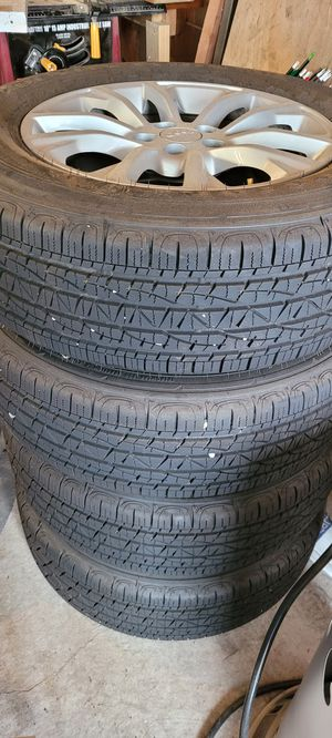 "(4) Tires & rims 5x110 (17"") almost new for Sale in Yelm, WA"