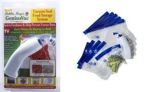 New Debbie Meyer GeniusVac Food Vacuum Sealer Foodsaver with 10 Bags for Sale in New Carrollton, MD