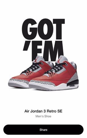 Air jordan 3 Retro Heritage Unite Collection Size 9 Order Confirmed for Sale in Philadelphia, PA